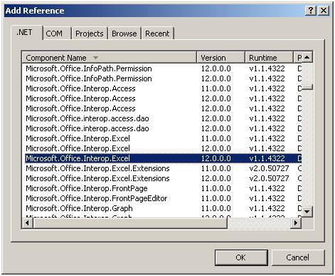 C  MicrosoftOfficeInterop