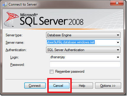 how to connect to sql server 2008