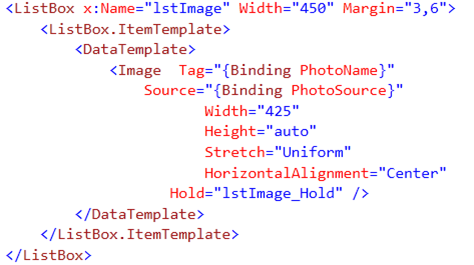 Select ListBox Item on the Hold event in Windows Phone