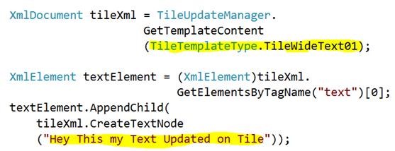 Live Tiles in XAML based Windows 8 Metro Application