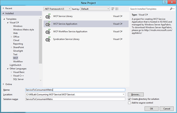 Consuming WCF SOAP Service in Windows 8 Metro Application