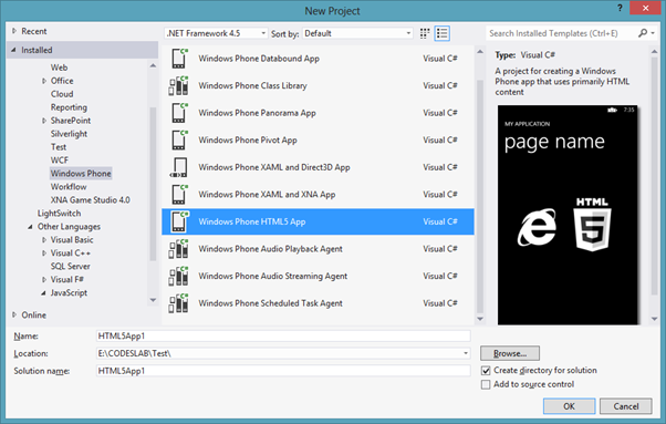 Getting Started with Windows Phone8