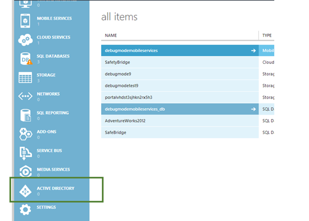 Getting Started with Windows Azure Active Directory