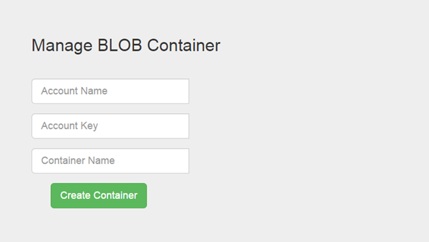 How to create a Container in Azure Storage from MVC